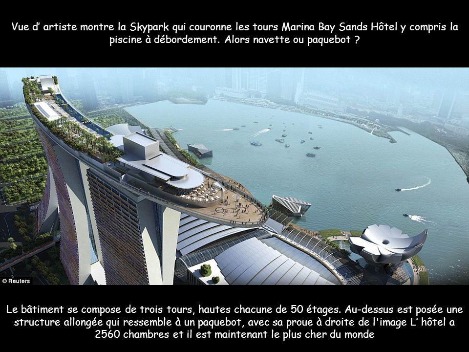 Marina Bay Sands : le complexe de loisirs de Singapour Centre-commercial, casino, hôtel et un jardin suspendu : le Marina Bay Sands de Singapour est l