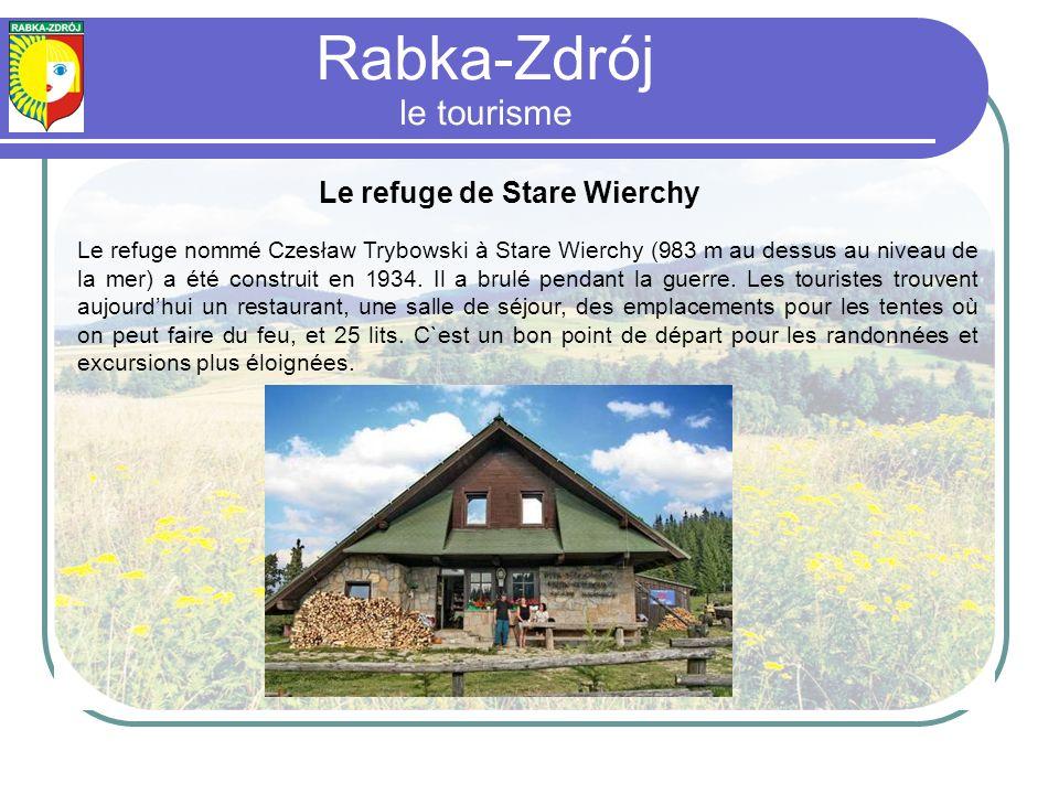 Le refuge de Stare Wierchy Le refuge nommé Czesław Trybowski à Stare Wierchy (983 m au dessus au niveau de la mer) a été construit en 1934.