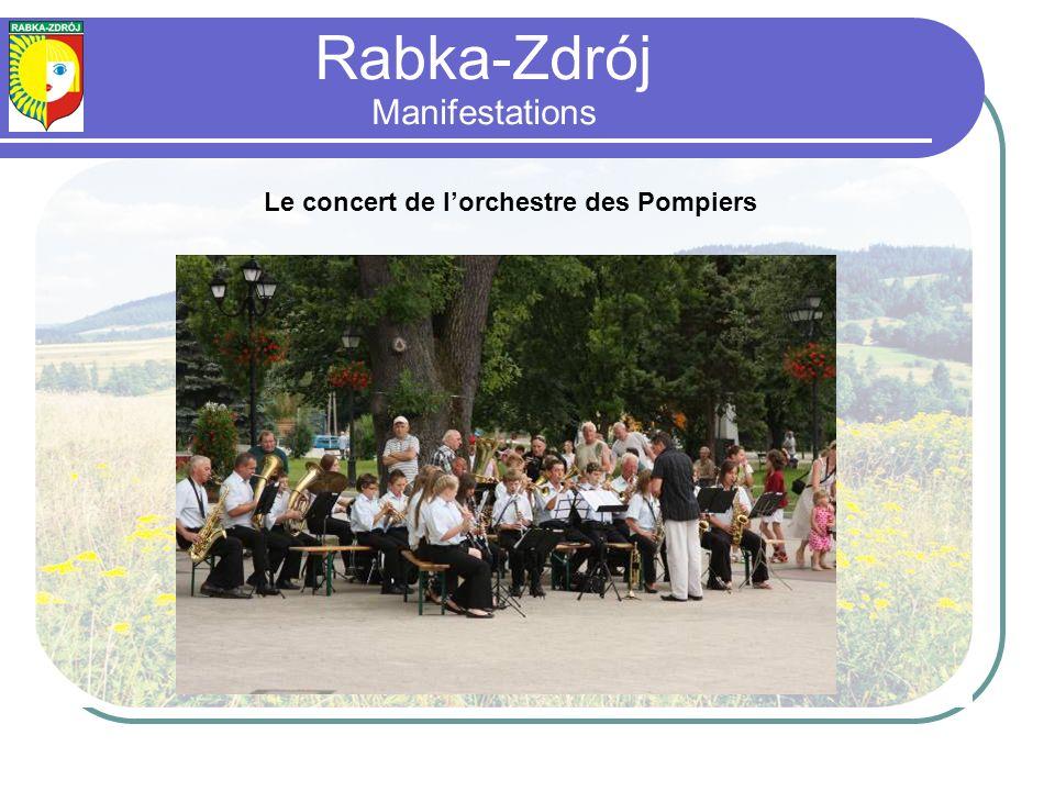 Le concert de lorchestre des Pompiers Rabka-Zdrój Manifestations