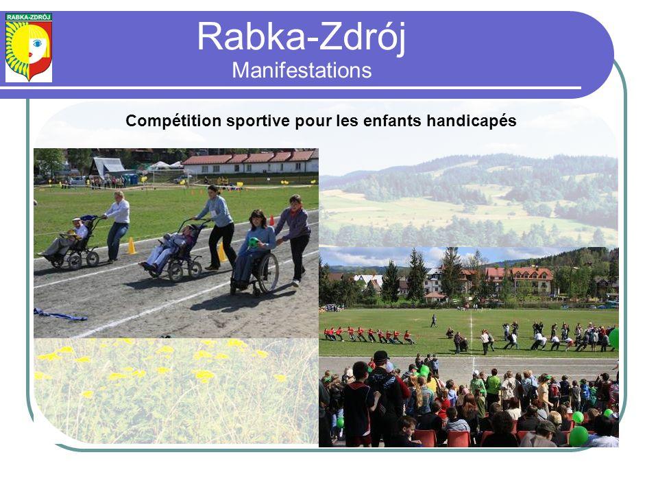 Compétition sportive pour les enfants handicapés Rabka-Zdrój Manifestations