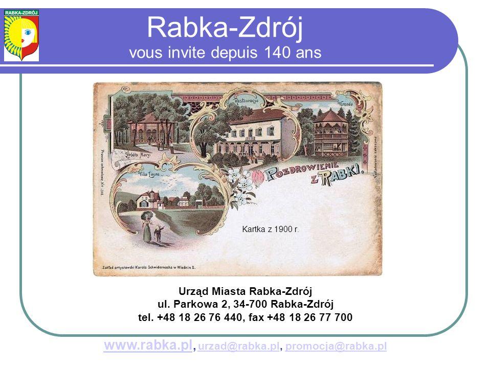 Kartka z 1900 r.Urząd Miasta Rabka-Zdrój ul. Parkowa 2, 34-700 Rabka-Zdrój tel.