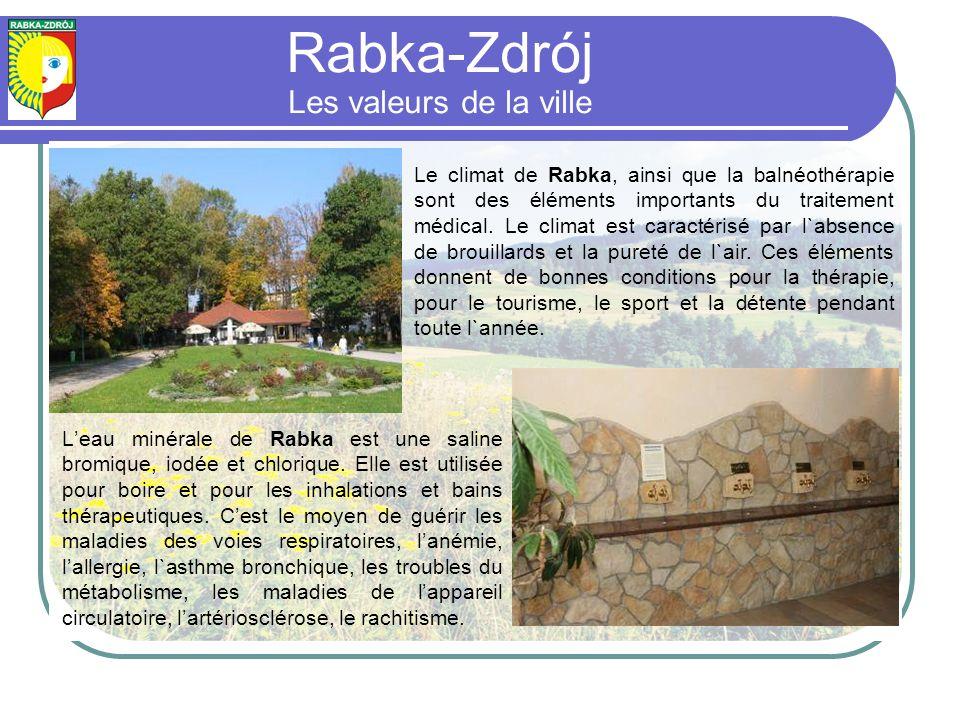 Leau minérale de Rabka est une saline bromique, iodée et chlorique.