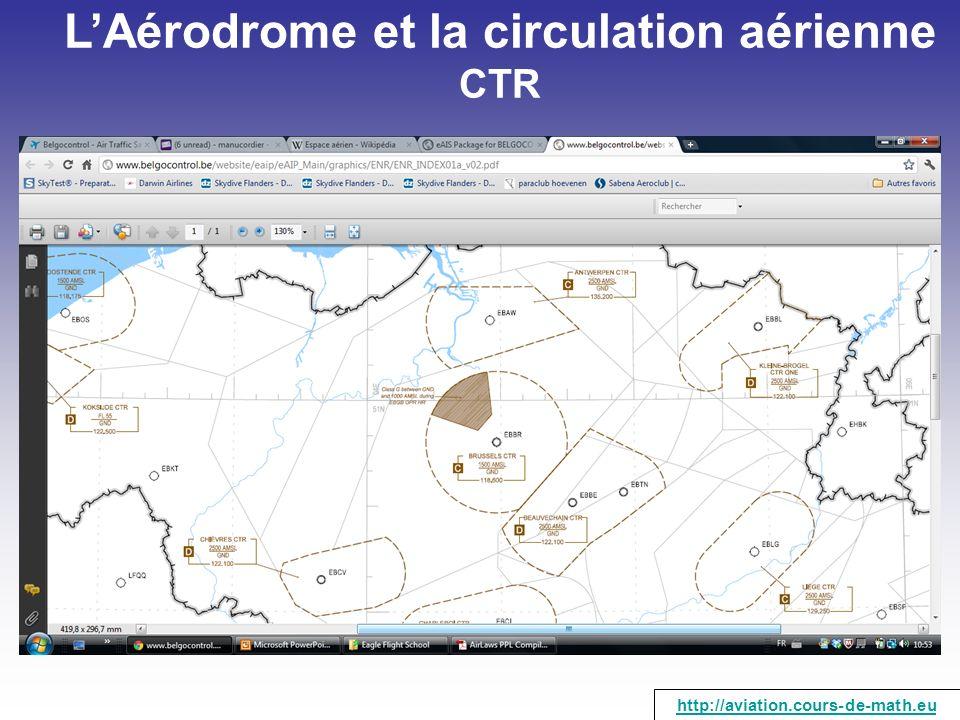 LAérodrome et la circulation aérienne CTR http://aviation.cours-de-math.eu