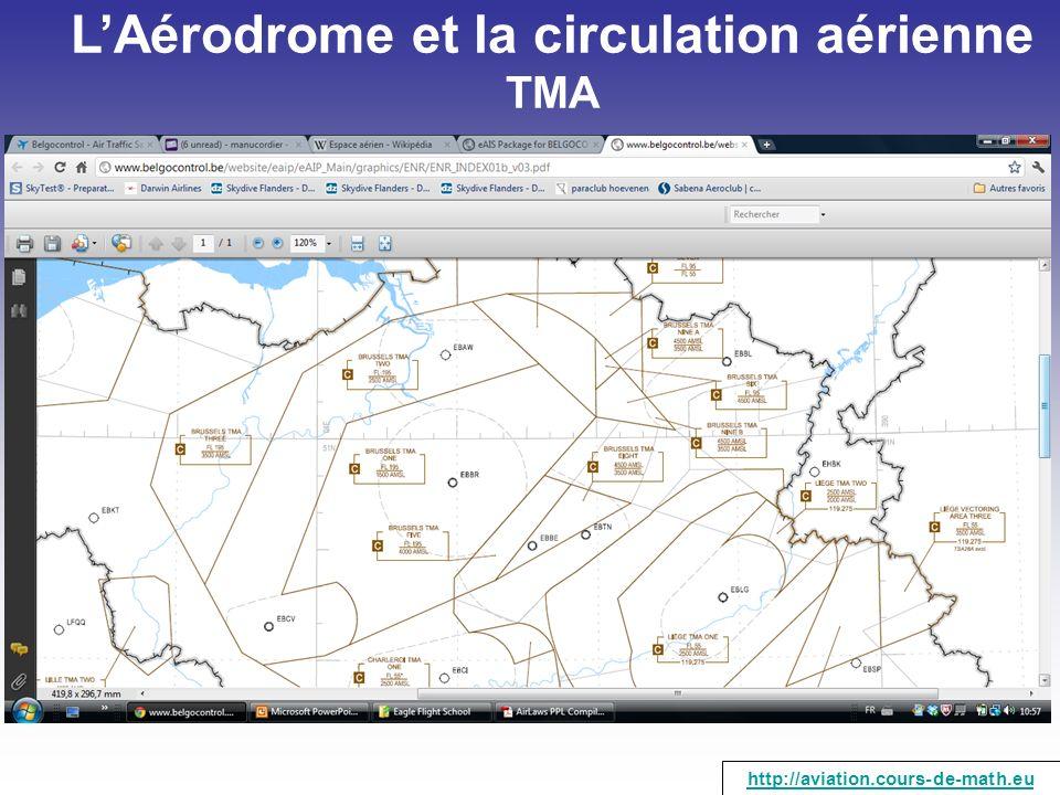 LAérodrome et la circulation aérienne TMA http://aviation.cours-de-math.eu