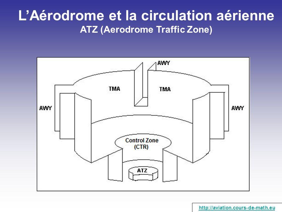 LAérodrome et la circulation aérienne ATZ (Aerodrome Traffic Zone) http://aviation.cours-de-math.eu