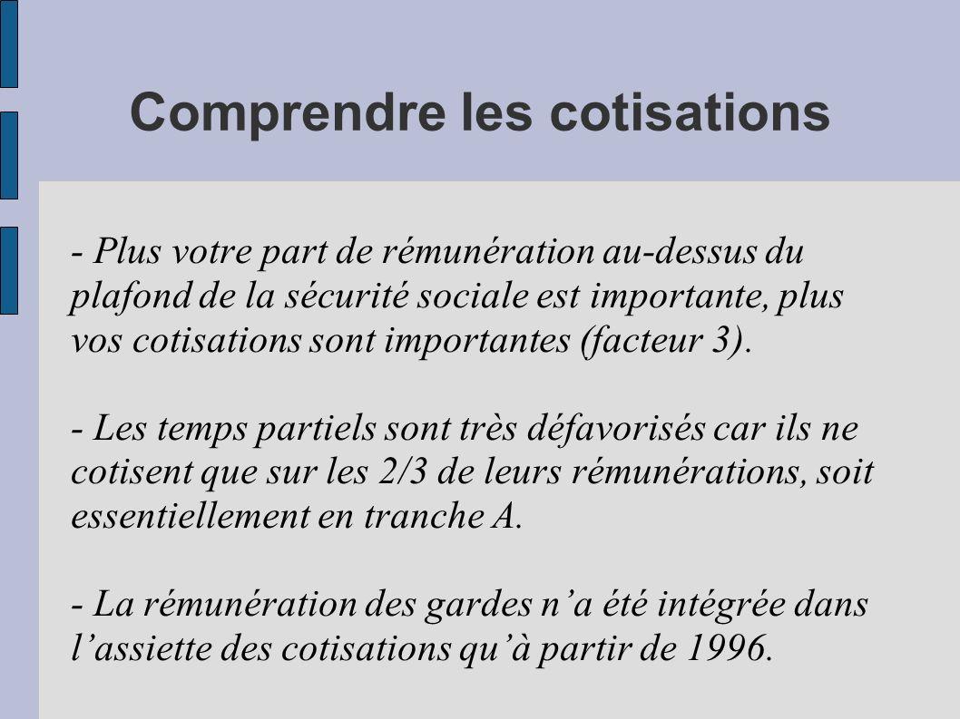 Revendications immédiates Principes généraux - Pas plus de 40 annuités de cotisation.