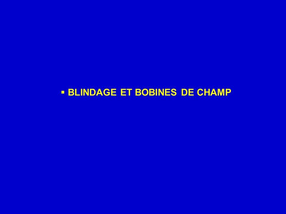 BLINDAGE ET BOBINES DE CHAMP