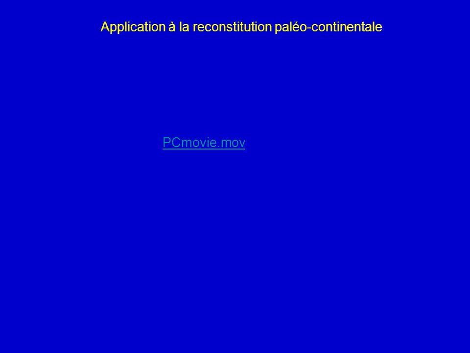 PCmovie.mov Application à la reconstitution paléo-continentale