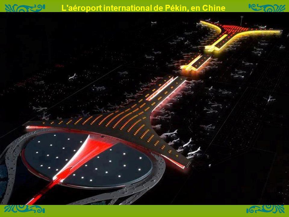 L aéroport international de Pékin, en Chine