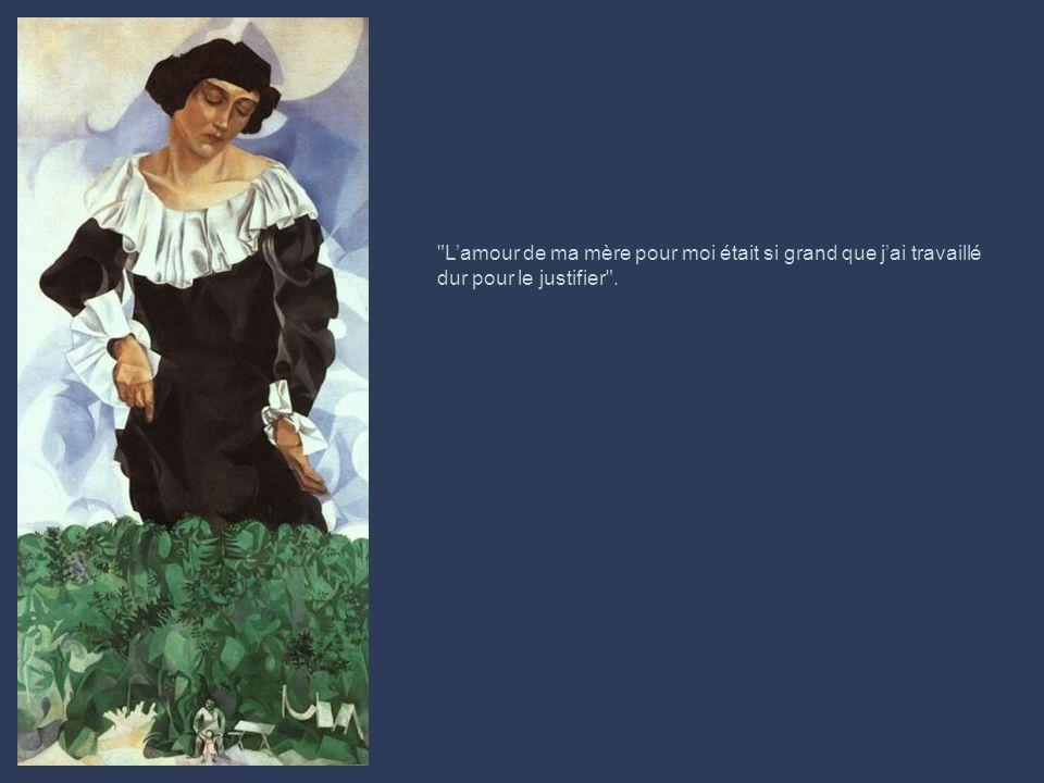 « Si toute vie va inévitablement vers sa fin, nous devons durant la nôtre, la colorier avec nos couleurs d'amour et d'espoir. » Marc Chagall