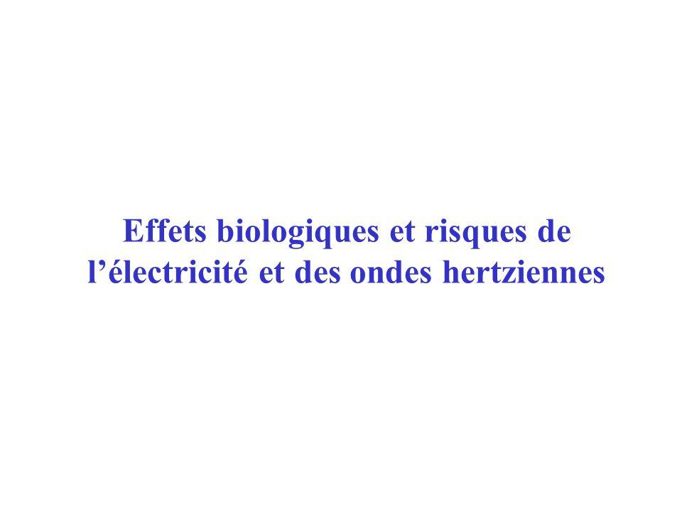 27/01/04Effets biologiques et risques de l électricité et des ondes hertziennes12 –Conduite à tenir Interrompre ou faire interrompre (HT) le courant .