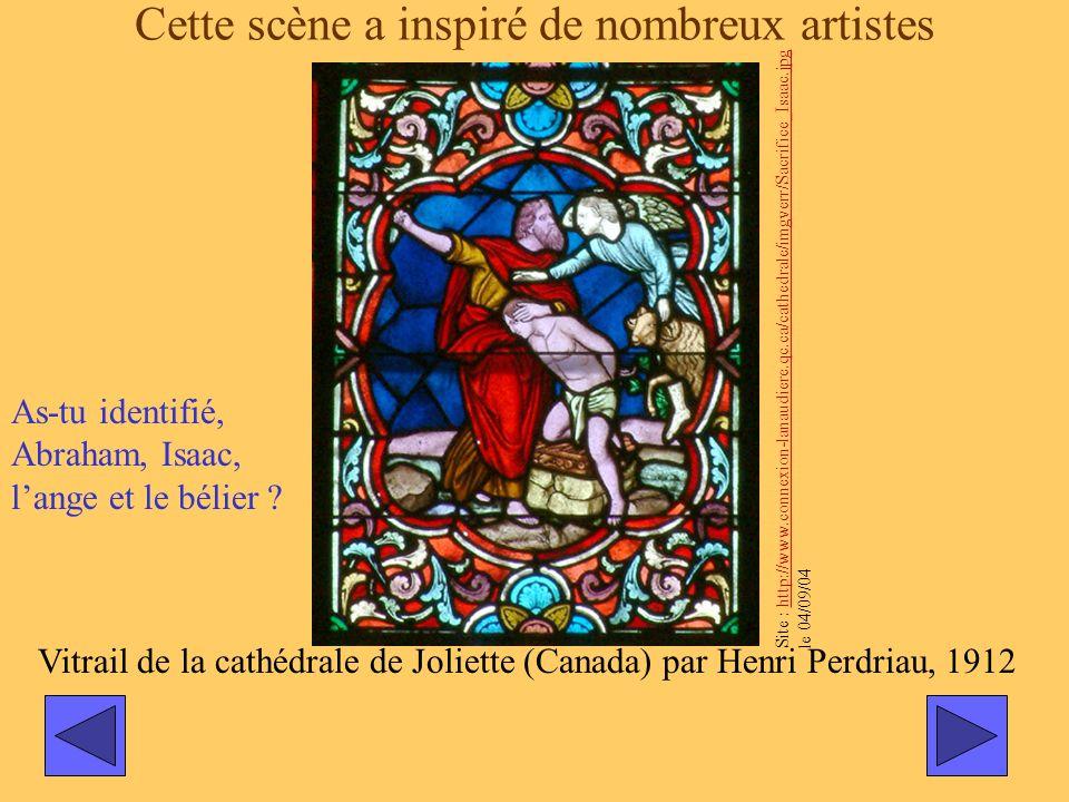 Cette scène a inspiré de nombreux artistes Vitrail de la cathédrale de Joliette (Canada) par Henri Perdriau, 1912 Site : http://www.connexion-lanaudie