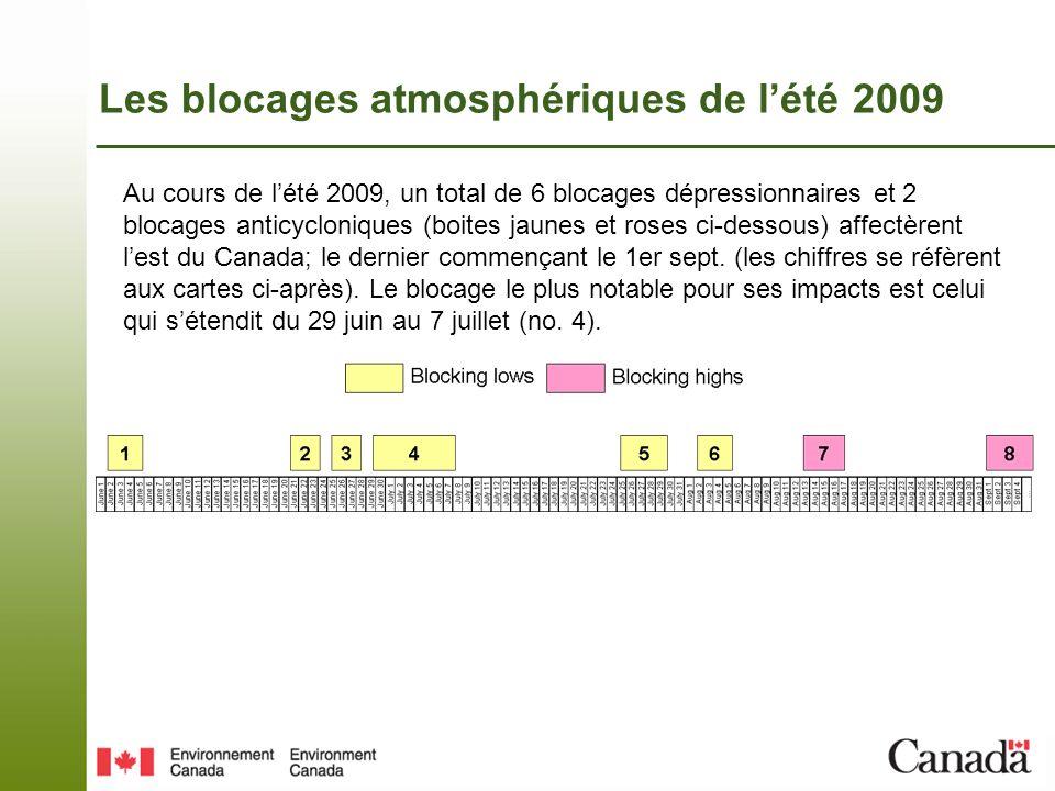 Les blocages atmosphériques de lété 2009