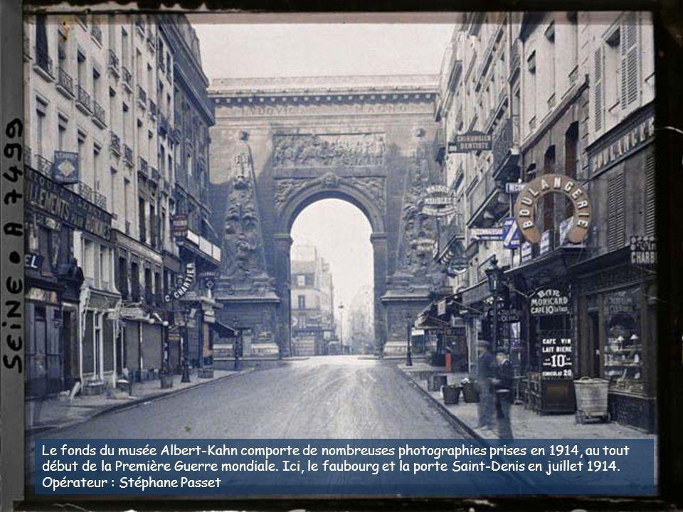 Jardins potagers, quai d'Auteuil (actuel quai Louis-Blériot), en face le pont de Grenelle et la statue de la Liberté. 28 juin 1918. Auguste Léon