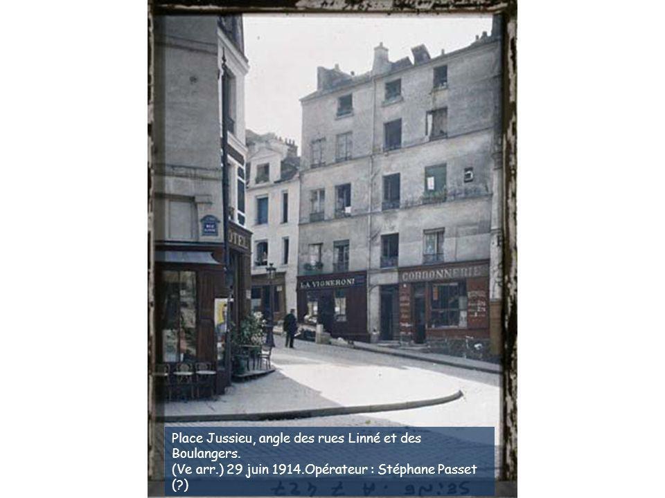25 rue des Boulangers. (Ve arr.) 29 juin 1914.Opérateur : Stéphane Passet
