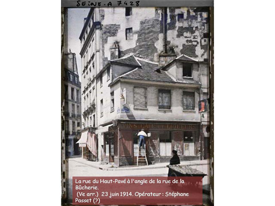 La rue de Viarmes. (Ier arr.) 25 juin 1914. Opérateur : Auguste Léon