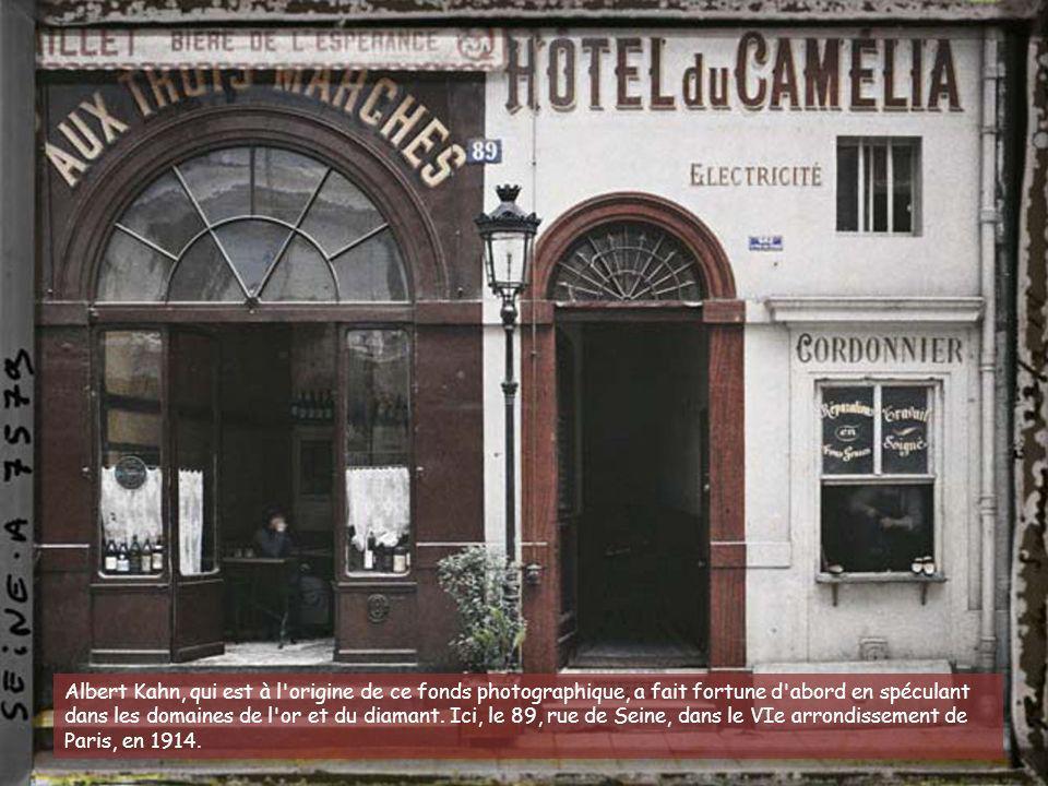 La rue de Seine, au niveau du numéro 12.(VIe arr.) 16 juillet 1914.