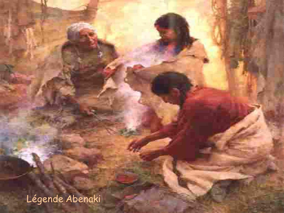Par un matin froid et piquant, il y a fort longtemps, un chef iroquois du nom de Woksis sortit de sa hutte. Puisqu'il devait aller à la chasse, il ret