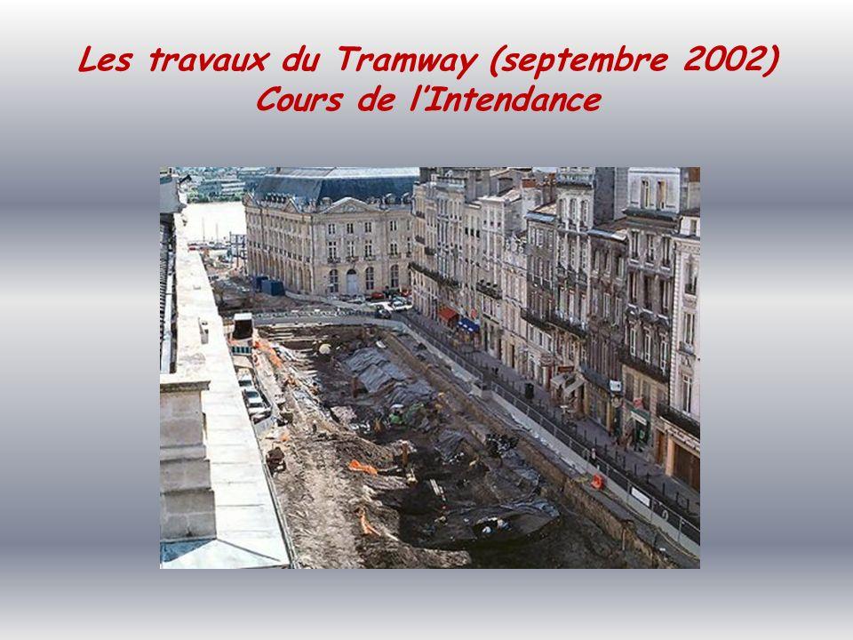 Les Travaux du tramway (février 2002) Place de la Bourse