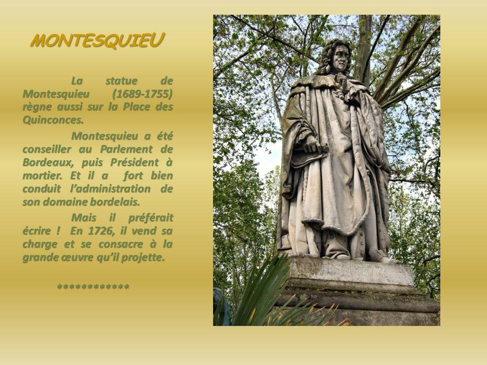 MONTAIGNE Statue de Montaigne, Place des Quinconces.