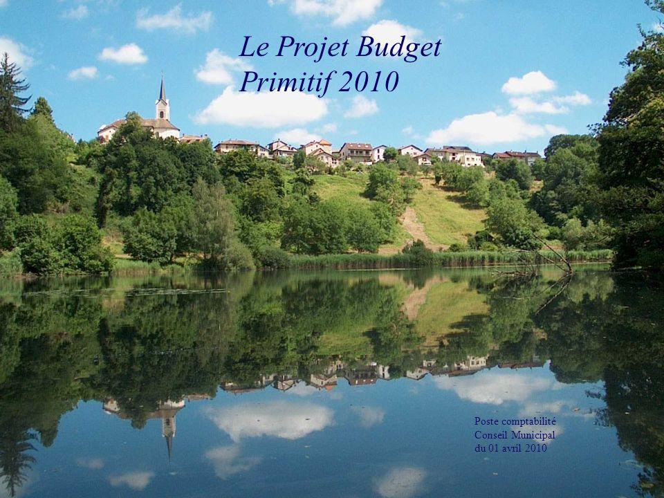1 Le Projet Budget Primitif 2010 Poste comptabilité Conseil Municipal du 01 avril 2010