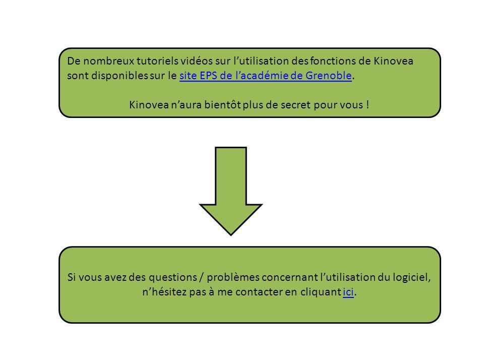 De nombreux tutoriels vidéos sur lutilisation des fonctions de Kinovea sont disponibles sur le site EPS de lacadémie de Grenoble.site EPS de lacadémie