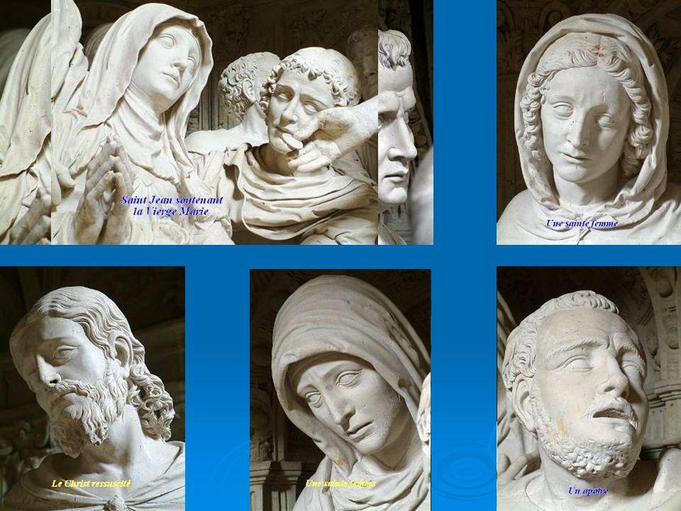 La PAMOISON Dans cette première scène, au-dessus de l autel, dans le transept gauche, nous assistons à la mort de Marie.