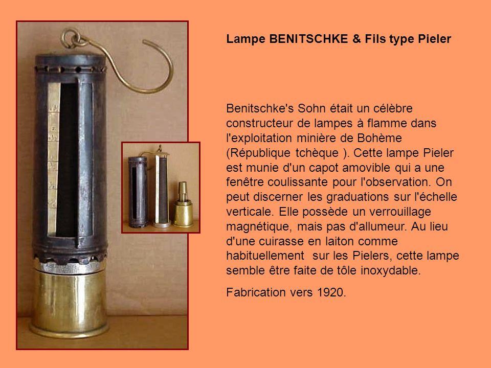 En 1883, Friedrich Pieler, un ingénieur des mines allemand, a présenté une lampe simple et précise pour la détection de grisou dans les mines de Westp