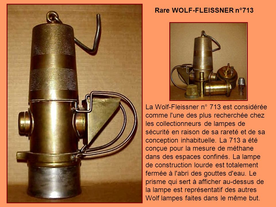 Vers 1916, Friemann & Wolf a fabriqué deux lampes expérimentales à alerte acoustique. L'une est alimentée par le benzène tandis que l'autre était une