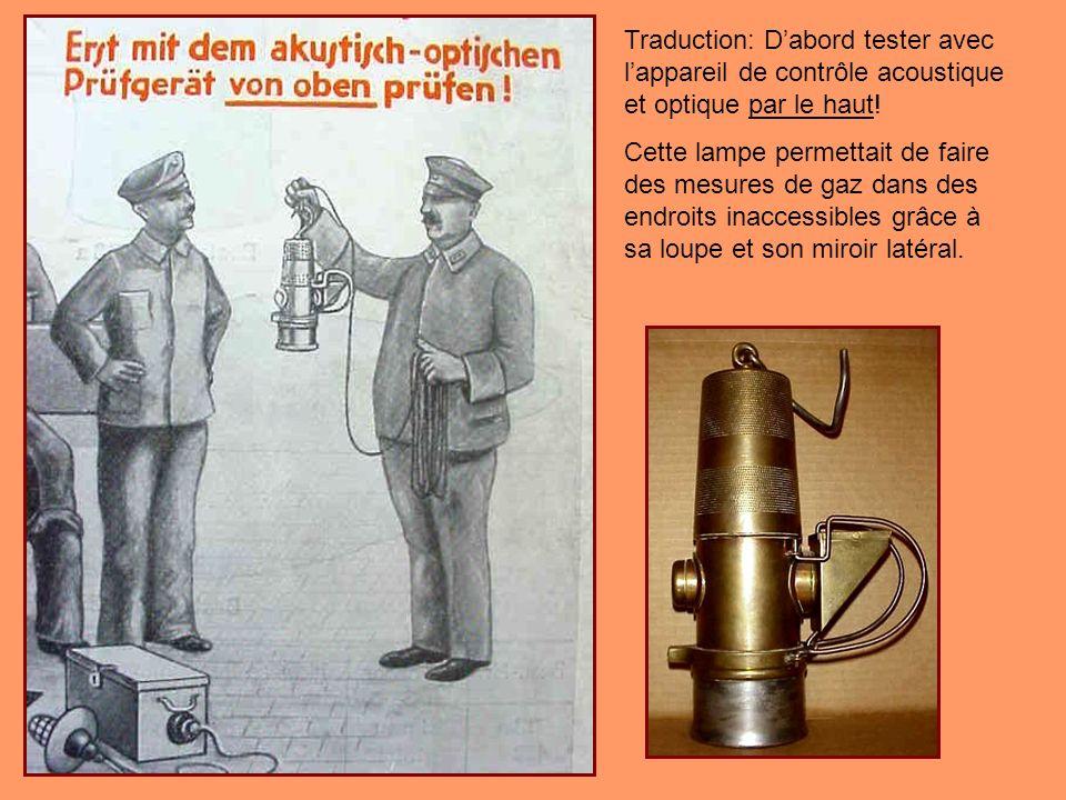 La Wolf-Fleissner n° 713 est considérée comme l une des plus recherchée chez les collectionneurs de lampes de sécurité en raison de sa rareté et de sa conception inhabituelle.
