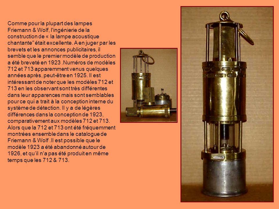 Traduction: Dabord tester avec lappareil de contrôle acoustique et optique par le haut! Cette lampe permettait de faire des mesures de gaz dans des en