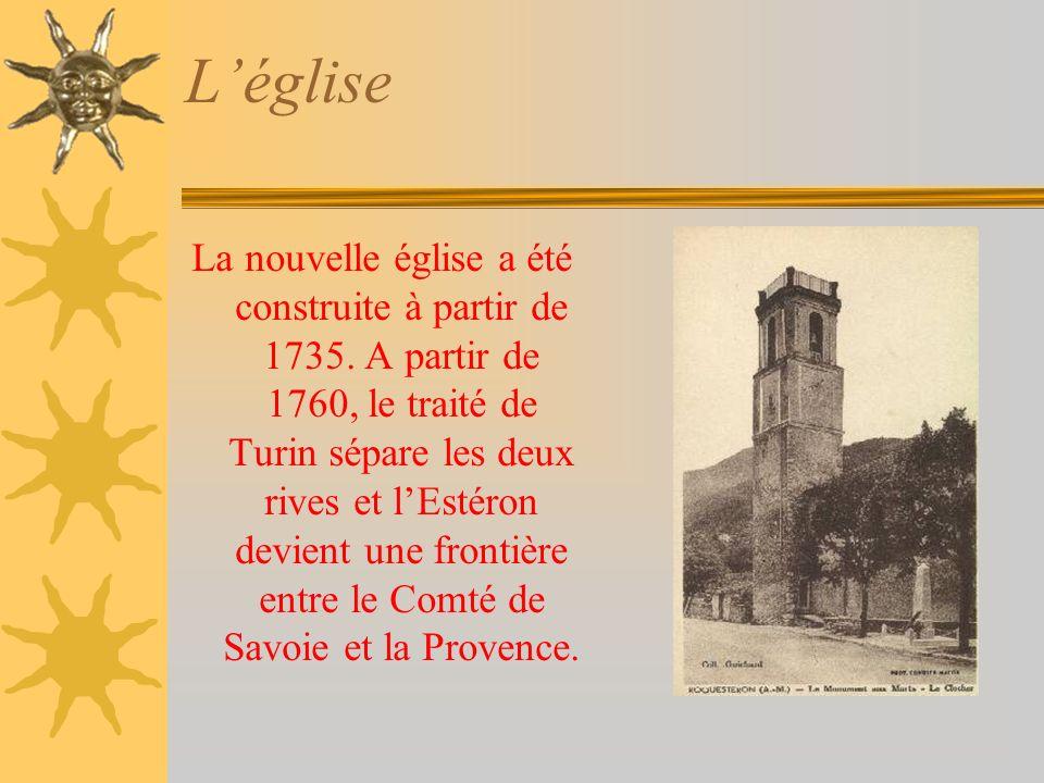 Léglise La nouvelle église a été construite à partir de 1735.