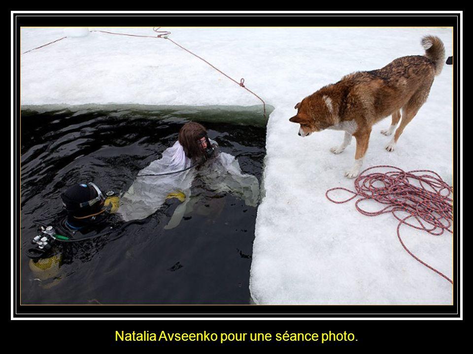 Natalia Avseenko pour une séance photo.