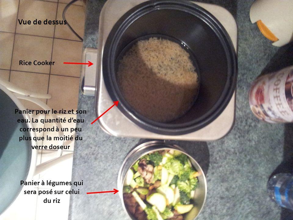 Le rice cooker vu de dessus.
