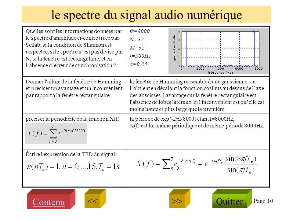 Page 9 le traitement du signal audio numérique avec Scilab Quels sont les effets des instructions Scilab suivantes .