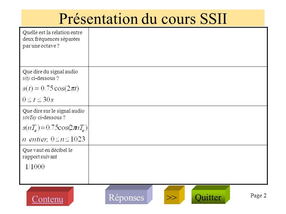 Page 12 Avez-vous noté la signification des concepts et notations suivants dans le cadre du cours SSII .