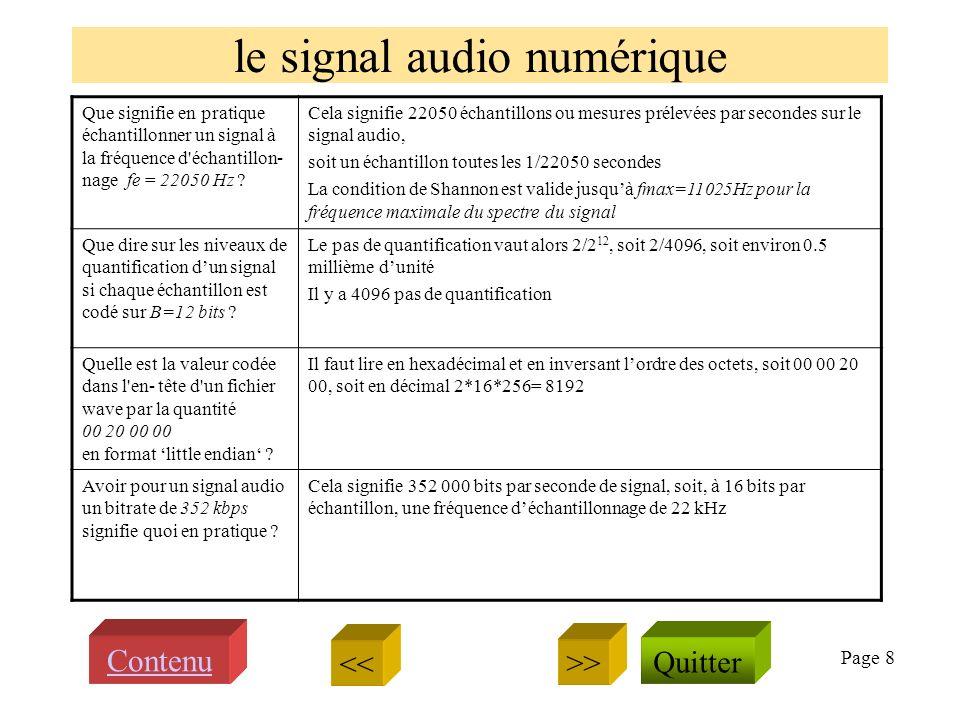 Page 8 le signal audio numérique Que signifie en pratique échantillonner un signal à la fréquence d échantillon- nage fe = 22050 Hz .