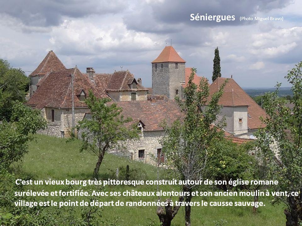 Gourdon (Photo Miguel Bravo) Ce bourg fut d'abord un castrum, bâti sur un éperon, avec château fort et remparts circulaires. Cité au XIVe siècle, Il c