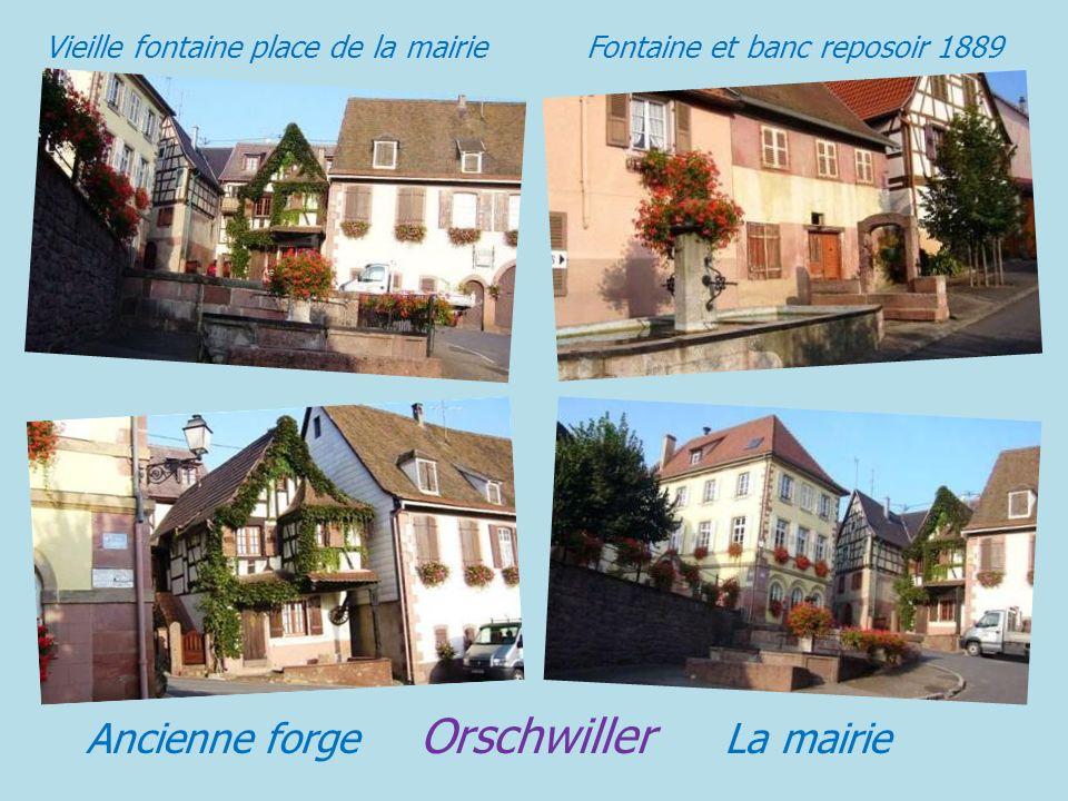 Panorama sur le village Le village Rue des prélats Orschwiller La Grand' rue