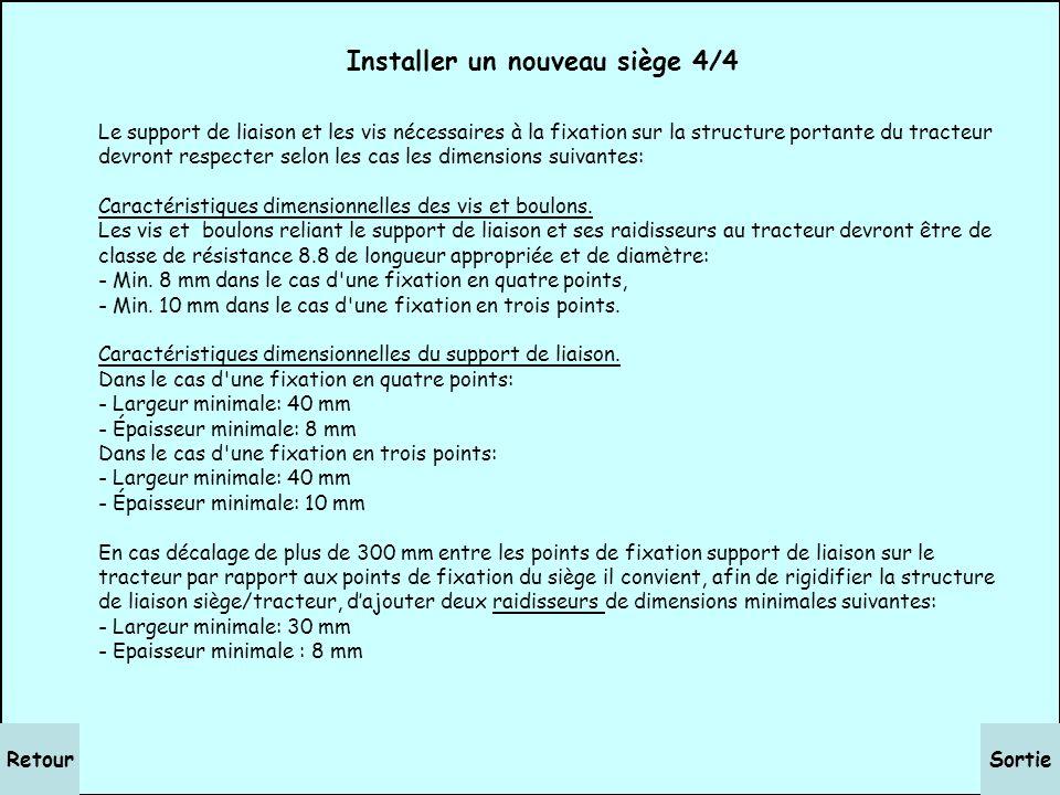 SuiteRetour Installer un nouveau siège 3/4 Etape n° 3: Repérer sur le siège à installer les points de fixation prévus par le constructeur (plaque de l