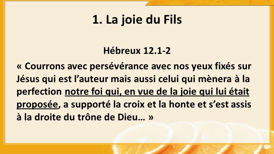 Hébreux 12.1-2 « Courrons avec persévérance avec nos yeux fixés sur Jésus qui est lauteur mais aussi celui qui mènera à la perfection notre foi qui, e