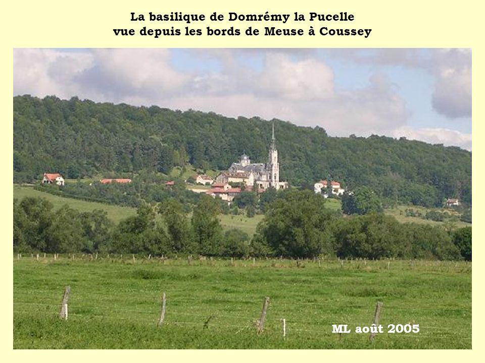 La basilique de Domrémy la Pucelle vue depuis les bords de Meuse à Coussey ML août 2005