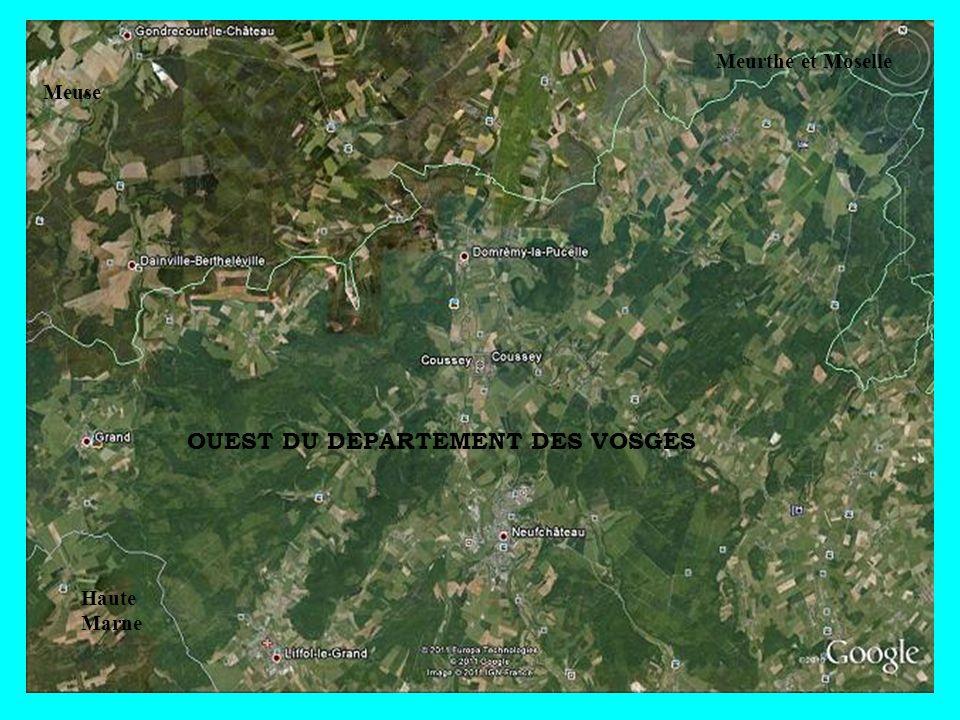 Meuse Meurthe et Moselle Haute Marne OUEST DU DEPARTEMENT DES VOSGES