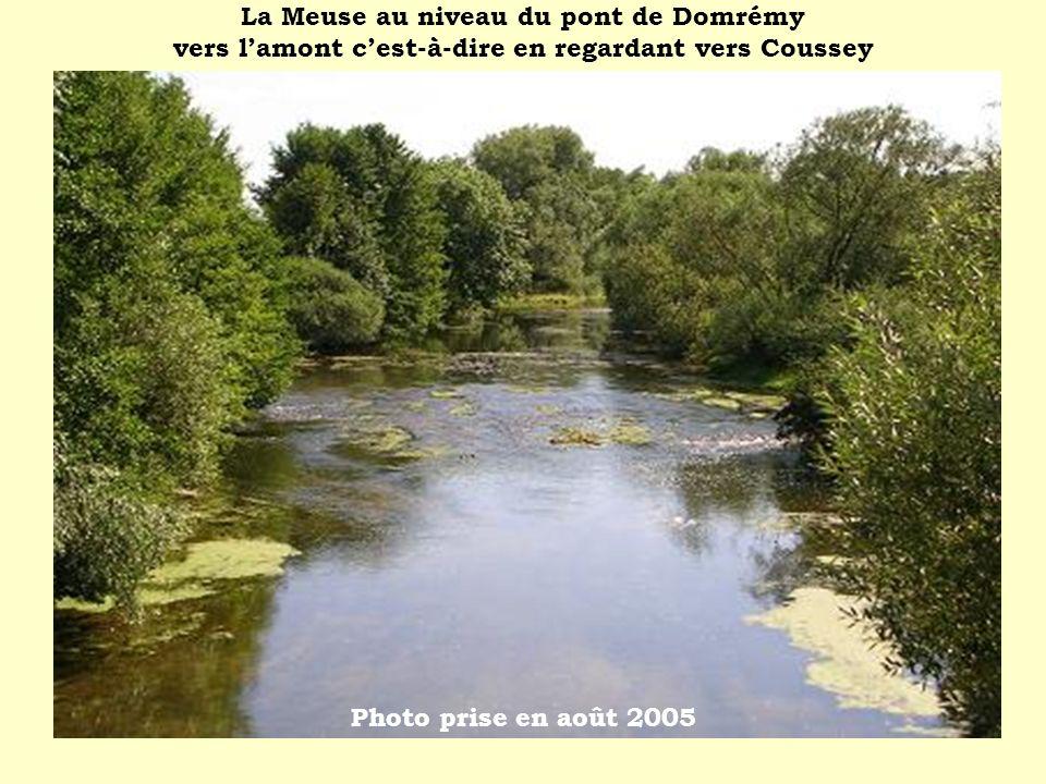 La Meuse au niveau du pont de Domrémy vers lamont cest-à-dire en regardant vers Coussey Photo prise en août 2005