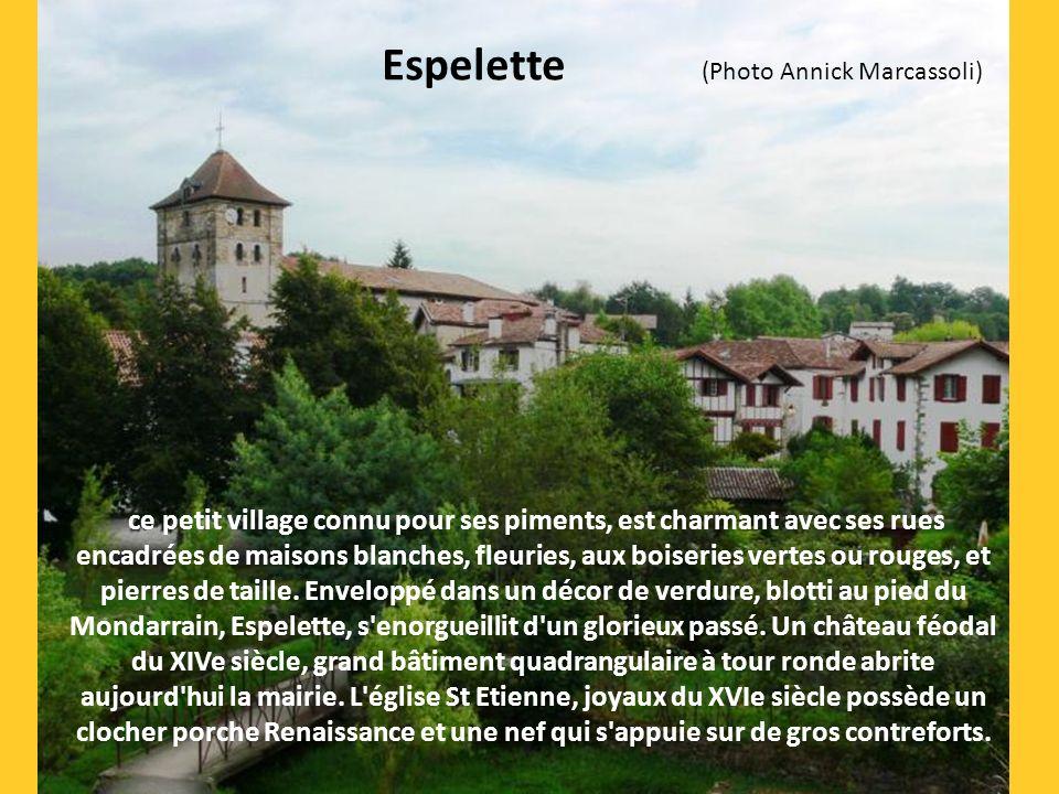 c'est un charmant village labourdin avec son château, reconstruit au XIXe siècle par les descendants des seigneurs d'Arcangues. Ses belles maisons aux