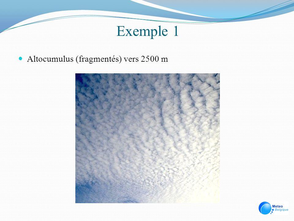 Exemple 1 Altocumulus (fragmentés) vers 2500 m