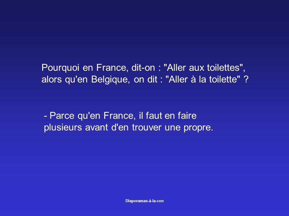 Diaporamas-à-la-con Pourquoi en France, dit-on :