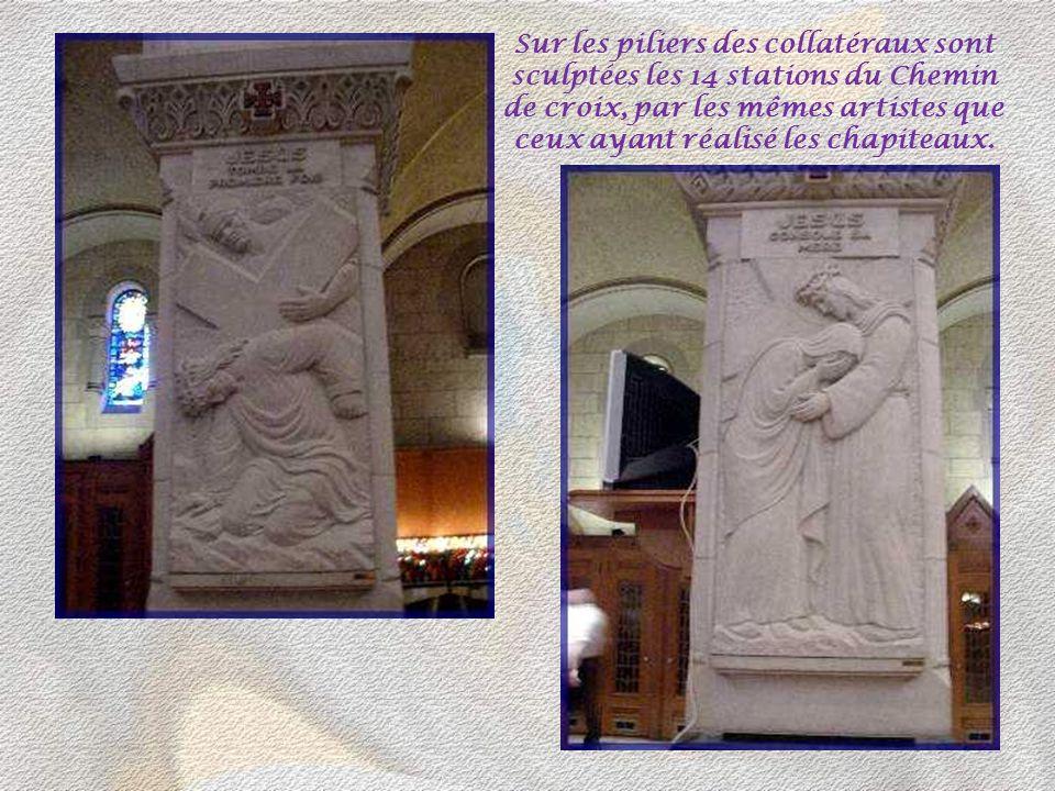 12 chapelles sont aménagées autour du déambulatoire. Ci- dessous la chapelle de Notre- Dame-du-Perpétuel Secours. Ci-dessus celle de Saint-Jean- Bapti