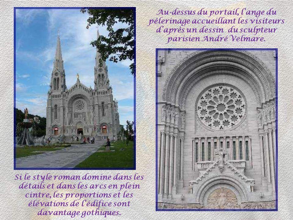 Sur la côte de Beaupré, au pied des Laurentides et à 35 km de Québec, se dresse le magnifique sanctuaire qui a remplacé les quatre églises successives