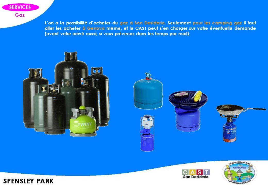 Gaz SERVICES Lon a la possibilité dacheter du gaz à San Desiderio. Seulement pour les camping gaz il faut aller les acheter à Genova même, et le CAST